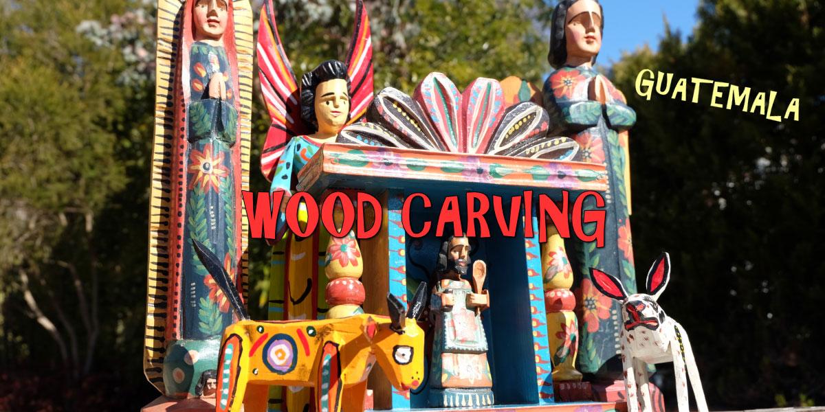 グァテマラ 木彫り