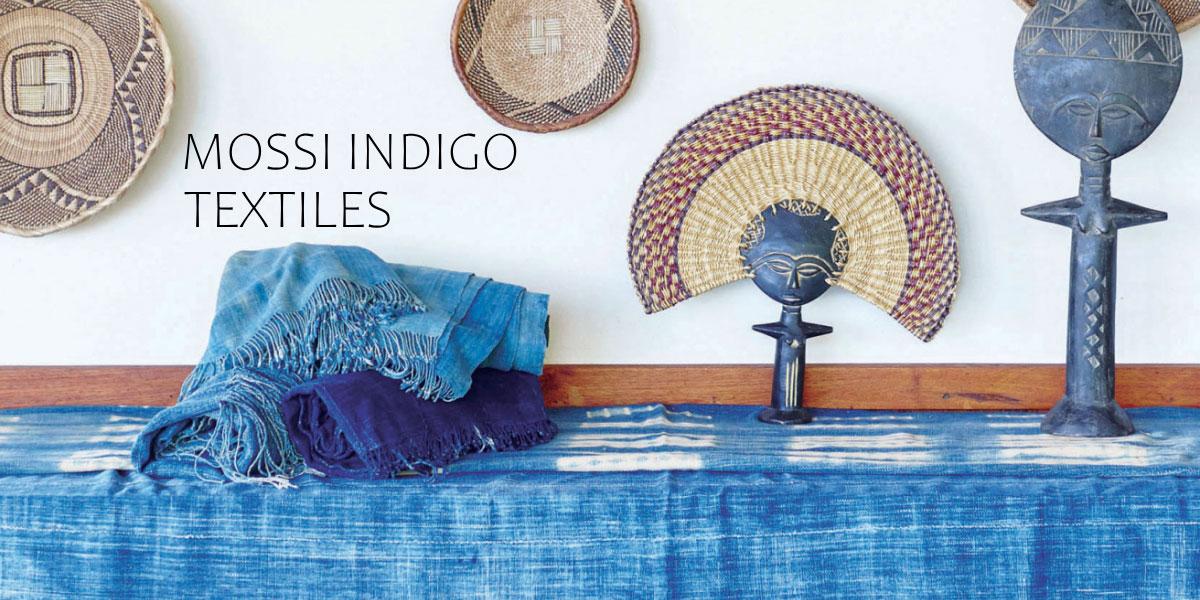 モシ族藍染め布
